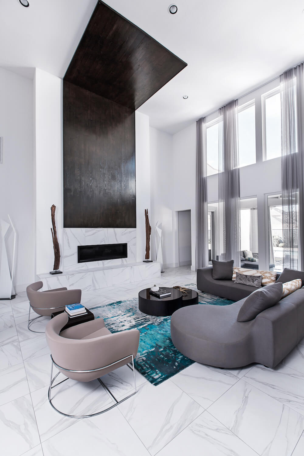 Couture modern residence contour interior design for Residential interior design