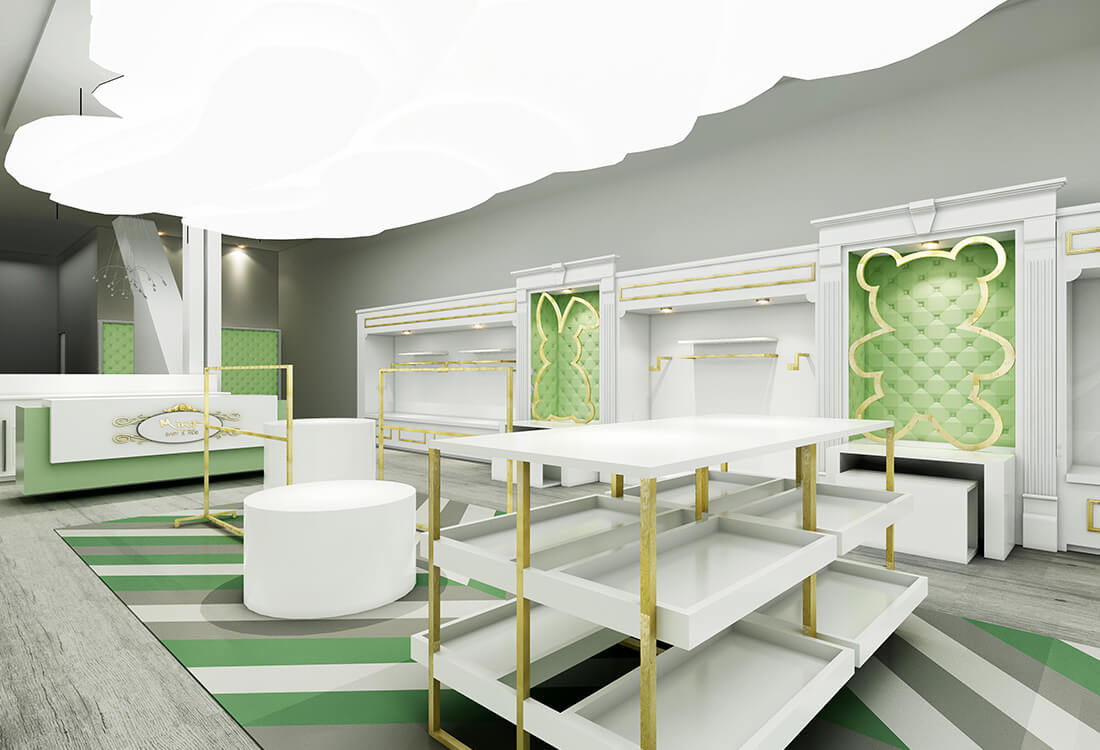 Mint Baby Boutique Contour Interior Design