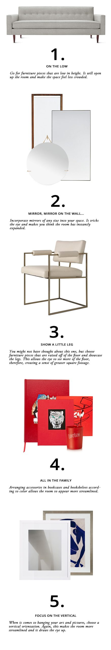 Live Stylish Daily's How to Make a Room Appear Larger