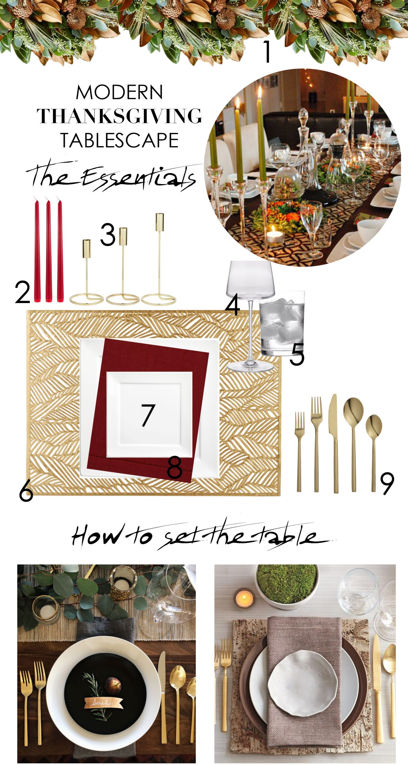 he Well-Dressed Table: Modern Holiday Tablescape Ideas
