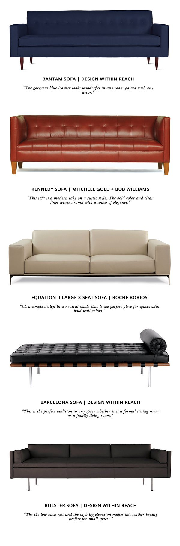 Live Stylish Daily S Great Leather Sofa Finds