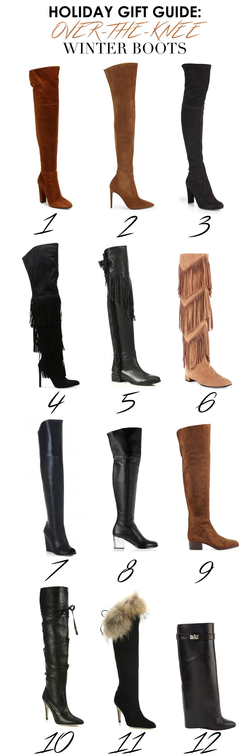 Holiday Gift Guide: Over-the-knee Winter Boots!