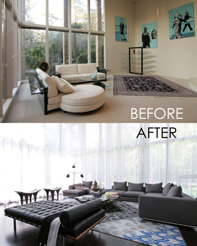 Before and after contour interior design Interior decoration pictures