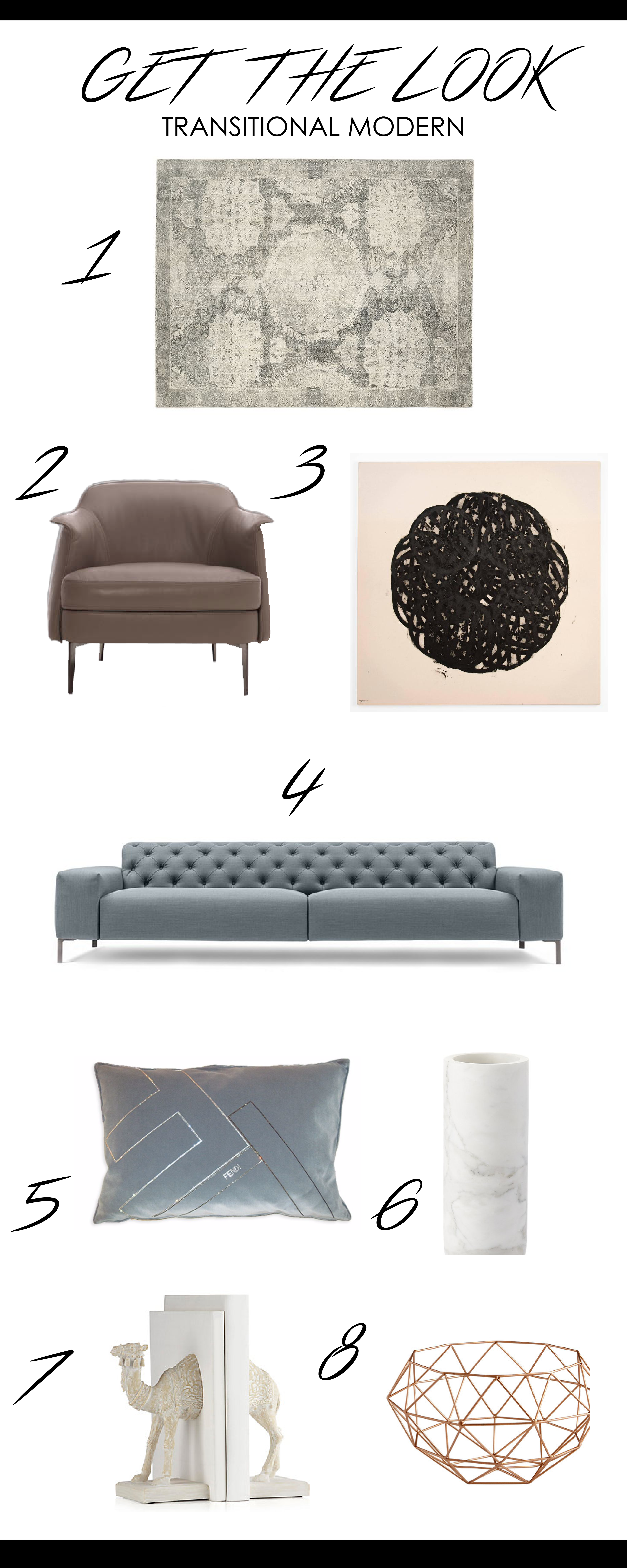 Get The Look- Transitional Modern